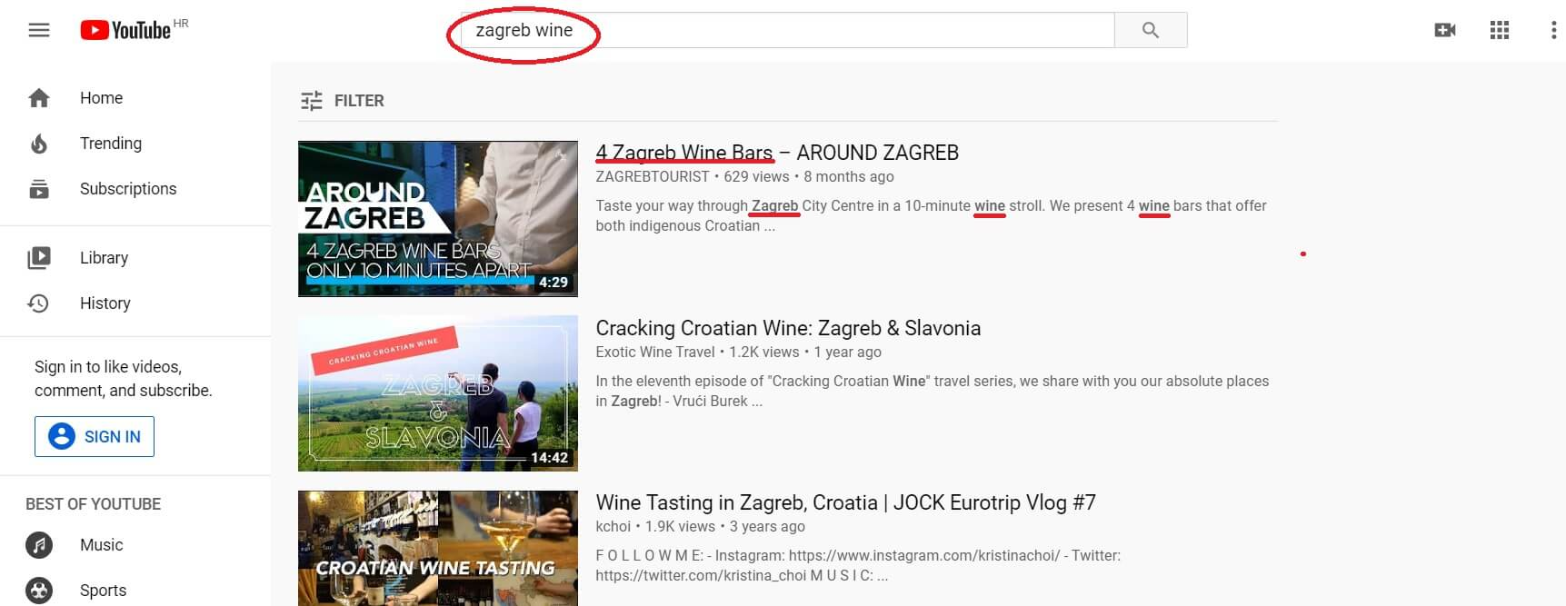 Optimizacija naslova za YouTube